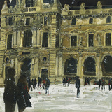 Winter, Louvre 6, Paris Giclee Print by Susan Brown