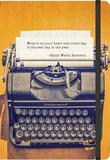 Vintage Typewriter - 2016 17 Month Weekly Canvas Planner Calendars