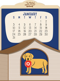 Doggone Cute  - 2016 Easel Calendar Calendars