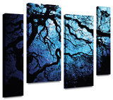 John Black 'Japanese Ice Tree' 4 piece staggered Gallery-Wrapped Canvas Gallery Wrapped Canvas Set by John Black