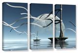 Cynthia Decker's Ribbons, 3 Piece Gallery-Wrapped Canvas Set Gallery Wrapped Canvas Set by Cynthia Decker