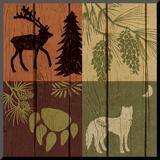 Lodge Four Pack II Mounted Print by Nicholas Biscardi