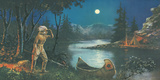 A Scout, In the Land of Hiawatha Giclee Print by Ambrose Reynaud