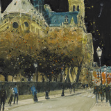 Rue de Cloitre Notre Dame, Paris Giclee Print by Susan Brown
