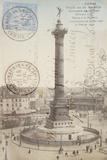 Place de la Bastille Reproduction procédé giclée par Stephanie Monahan