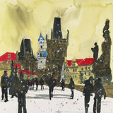 Little Quater, Bridge Tower, Prague Giclee Print by Susan Brown
