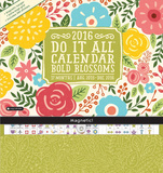 Bold Blossoms - 2016 Magnetic 17 Month Calendar Calendars