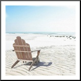 Beach Chair Mounted Print by Noah Bay