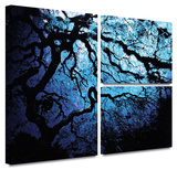 John Black 'Japanese Ice Tree' Flag 3 piece gallery-wrapped canvas Gallery Wrapped Canvas Set by John Black
