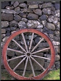Rural Stone Wall and Wheel, Kilmuir, Isle of Skye, Scotland Mounted Photo by Gavriel Jecan