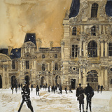 Louvre 5, Paris Giclee Print by Susan Brown