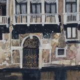 Sunny Facade, Venice Giclee Print by Susan Brown