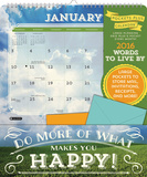 Words to Live By - 2016 Calendar with Pocket Calendars