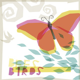 Birds and Bees II Giclee Print by Ken Hurd