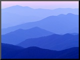 Great Smoky Mountains at Dusk Mounted Photo by  Owaki - Kulla
