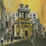 St Mary Woolnoth, The City London Giclee Print by Susan Brown