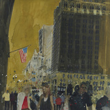 Strollers on the Side Walk, New York Giclee Print by Susan Brown