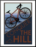 Conquer the Hill - Mountain Bike Mounted Print