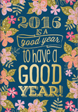 Gold Foil Midnight Garden - 2016 Monthly Pocket Planner Calendars