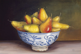 Pears in a Blue Bowl Giclee Print by Mimi Roberts