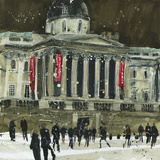 From Trafalgar Square, Facade the National Gallery, London Giclee Print by Susan Brown