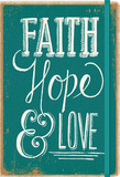 Faith, Hope & Love - 2016 17 Month Weekly Canvas Planner Calendars
