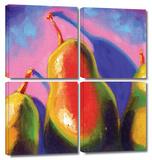Susi Franco 'Pearfect Shadow' 4 piece Gallery-Wrapped Canvas Gallery Wrapped Canvas Set by Susi Franco
