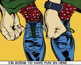 I'm Going to Have Fun in Here.... Giclee Print by Deborah Azzopardi