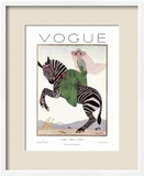 Vogue Cover - January 1926 Art Print by André E. Marty