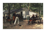 Soldiers of the Sixth Regiment at Rest Premium Giclee Print by Eugene Giradet