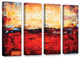 Jolina Anthony's Abstract Warm, 4 Piece Gallery-Wrapped Canvas Set Prints by Jolina Anthony