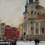St Nicholas from the Square, Prague Giclee Print by Susan Brown