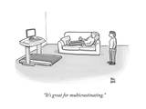 """It's great for multicrastinating."" - New Yorker Cartoon Premium Giclee Print by Paul Noth"