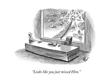 """Looks like you just missed Him."" - New Yorker Cartoon Premium Giclee Print by Frank Cotham"