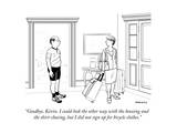 """Goodbye, Kevin. I could look the other way with the boozing and the skirt…"" - New Yorker Cartoon Premium Giclee Print by Alex Gregory"