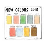 New Colors 2015 - New Yorker Cartoon Premium Giclee Print by Roz Chast
