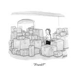 """Frank?"" - New Yorker Cartoon Premium Giclee Print by Tom Toro"