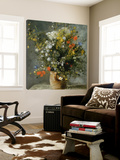 Fleurs dans un vase Posters by Pierre-Auguste Renoir
