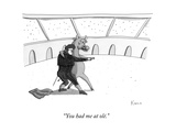 """You had me at olé."" - New Yorker Cartoon Premium Giclee Print by Zachary Kanin"