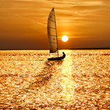 Sailing Off into the Sunset Photographic Print by Adrian Campfield