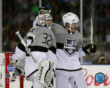 Jonathan Quick & Drew Doughty 2015 NHL Stadium Series Action Photo