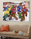 Partie de hockey Posters by Nicole Laporte