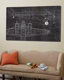 Plane Blueprint Art by Marco Fabiano