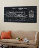 Train Blueprint III Black Plakat