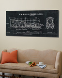 Train Blueprint III Black Poster
