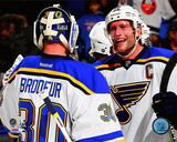 Martin Brodeur & David Backes 2014-15 Photo