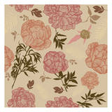 Vintage Floral Print by Melody Hogan