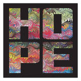 Marbled Words Poster by Melody Hogan