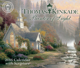 Thomas Kinkade Painter of Light with Scripture Day-to-Day - 2016 Boxed Calendar Calendars