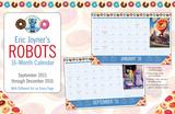 Eric Joyner Robots  - 2016 16 Month Desk Blotter Calendars